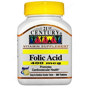 Folic Acid 400 mcg - 250 табл