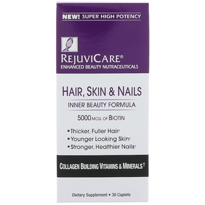 Hair,Skin and Nails +5000mcg Biotin - 30 caplets